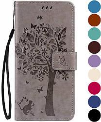 Обложка Sony Xperia XA (F3112) (чехол кот и дерево) (Сони Иксперия ХА)