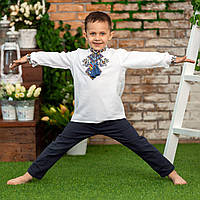 Вышиванка  рубашка   для мальчика  на  домотканной  ткани доля