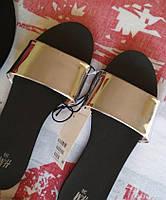Женские шлепки сланцы мюли H&M серебро. в наличии 38 39, фото 1
