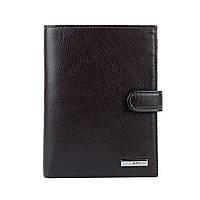 Мужской кожаный кошелек с обложкой для документов Karya 0914-39 коричневый