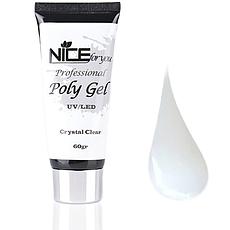 Полигель (акрил-гель) Nice прозрачный 60 Г