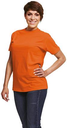 Футболка хлопок однотонная Červa унисекс TEESTA бесшовная с короткими рукавами оранжевая, фото 2