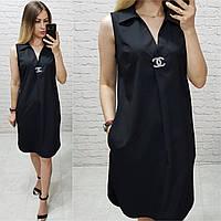 Платье без рукава арт. 167 чёрное / чёрного цвета, фото 1