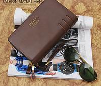 Стильный мужской клатч кошелек Polo Feidka с вырезами