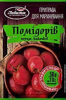 """Приправа для маринування помідорів, перцю, кабачків """"Любисток"""" 50г (1*10/70)"""