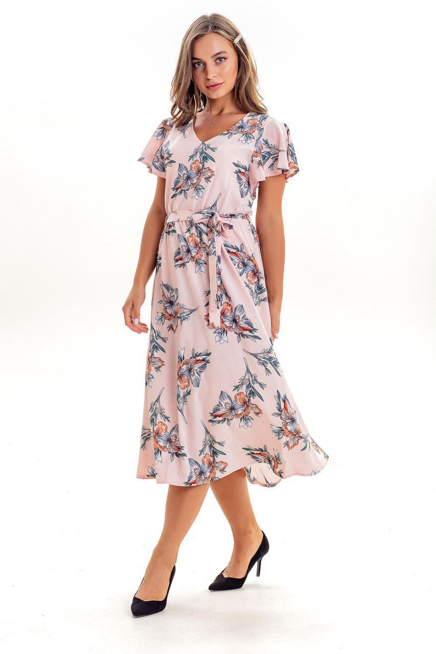 Платье K&ML 525 розовый 48