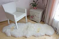 Коврик из двух декоративных овечьих шкур, белый цвет