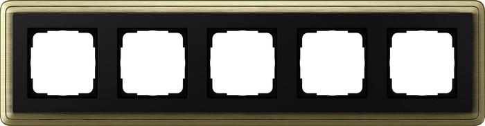 Установочная рамка Gira ClassiX Бронза-черный 5 местная 0215 622, 4010337097501