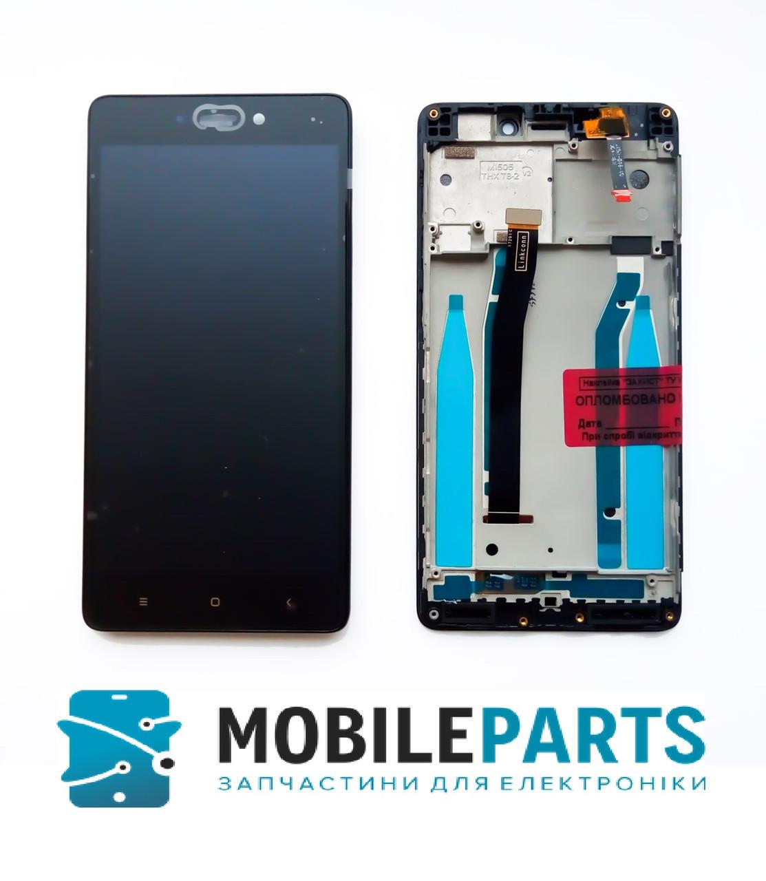 Дисплей для Xiaomi RedMi 3 | 3S | 3X | 3 Pro c сенсорным стеклом в рамке (Черный) Оригинал Китай