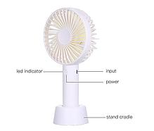 Портативный ручной вентилятор, настольный складной мини вентилятор от USB на аккумуляторе Fan, фото 3