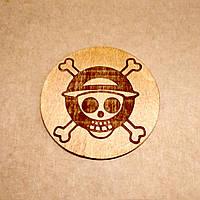 Костер с лазерной гравировкой. Подставка под кружку One Piece., фото 1