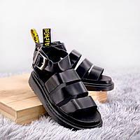 Женские Сандалии Dr Martens Sandals Full Black , Реплика, фото 1