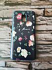 Чохол для Samsung A6 2018 / A600 Квіти Силіконовий(4 кольори), фото 2