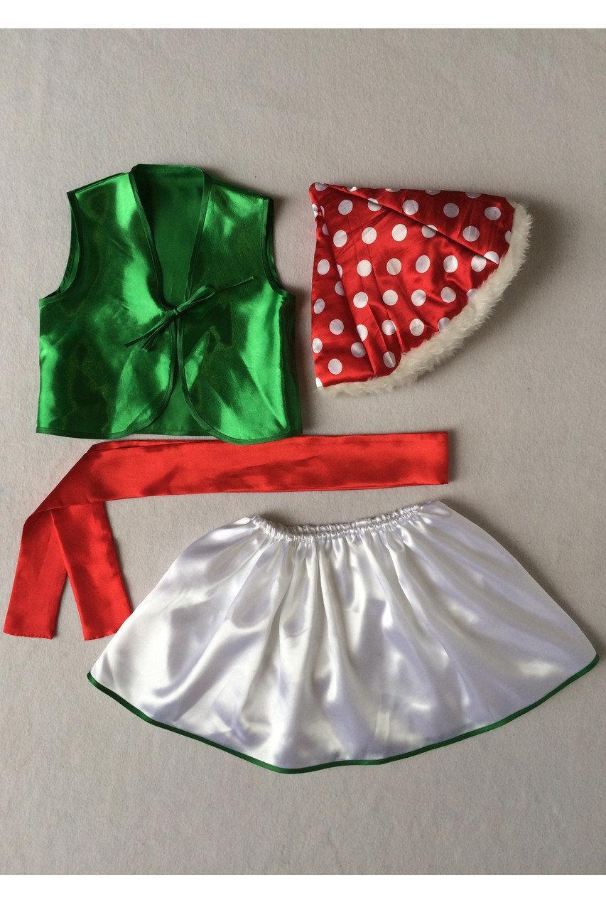Детский карнавальный костюм Bonita Мухомор №1 (девочка) 105 - 120 см Разноцветный