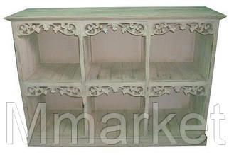 Комод деревянный BST 530289 110×80×40 см серый