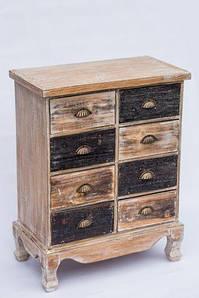 Комод деревянный ретро BST 530281 60×30×75см