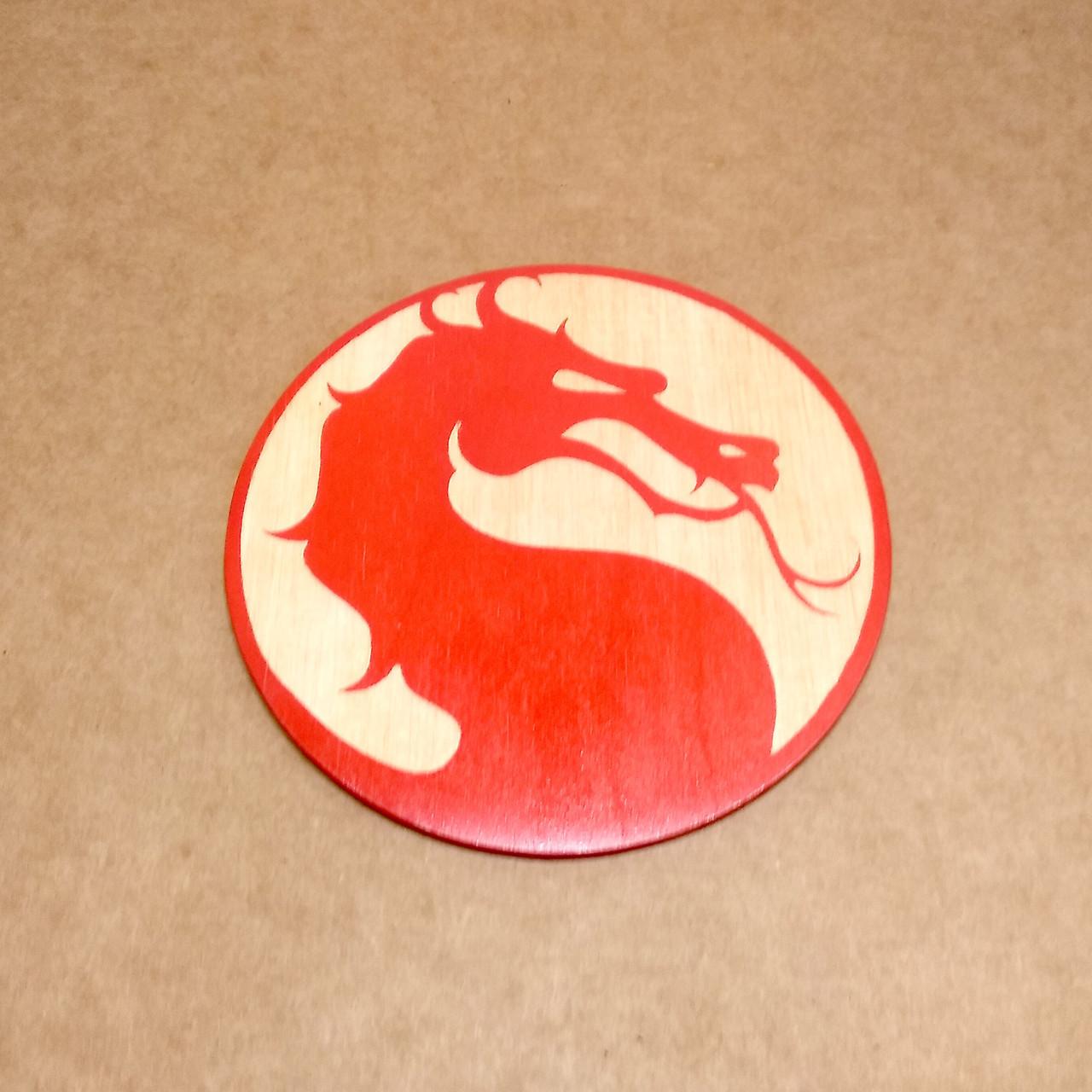 Костер деревянный. Подставка под кружку Mortal Kombat.