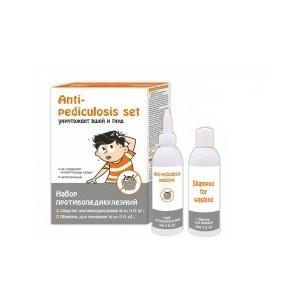 Противопедикулезный набор (средство+шампунь)- с целью уничтожения головных вшей и гнид