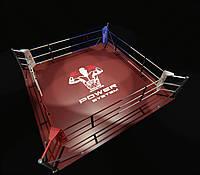 Боксерский ринг напольный, тренировочный 6х6 метра