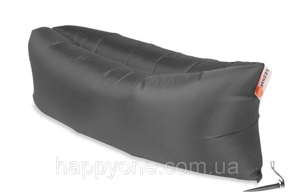 Надувной шезлонг (лежак) Standart (серый)