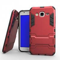 Ударопрочный чехол Epik Transformer для Samsung J500H Galaxy J5 с мощной защитой корпуса (Красный / Dante Red)