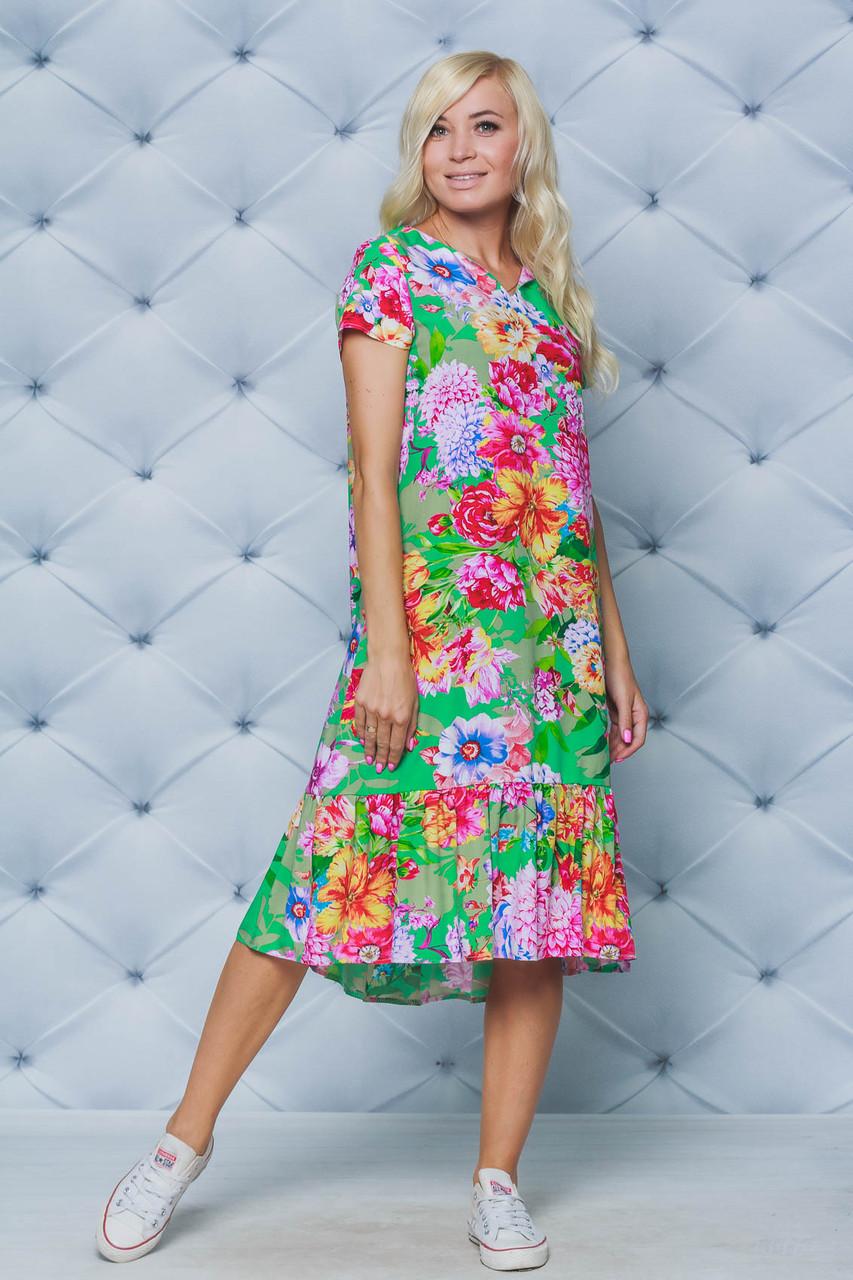 Платье женское летнее принт Цветы