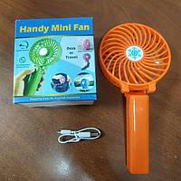 Мини ручной портативный вентилятор Handy Mini Fan Usb настольный, фото 1