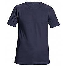 Футболка хлопок однотонная Červa унисекс TEESTA бесшовная с короткими рукавами темно-синяя