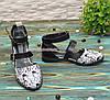 Туфлі жіночі шкіряні на низькому ходу, колір чорний, фото 3