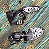 Туфлі жіночі шкіряні на низькому ходу, колір чорний, фото 4