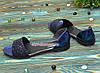Босоножки женские лаковые на низком ходу, с закрытой пяткой, фото 4