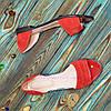 Босоножки женские замшевые на низком ходу, с закрытой пяткой, фото 4