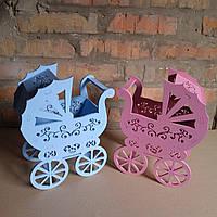 """Свадебные колясочки для сбора денег на сына и дочку """"Люльки """""""