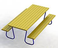 Стол со скамейками