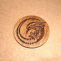 Костер деревянный. Подставка под кружку Чужой., фото 1