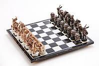 """Шахматы """"Акулы бизнеса"""" Vizuri 700052 44х44 см бронзовые"""