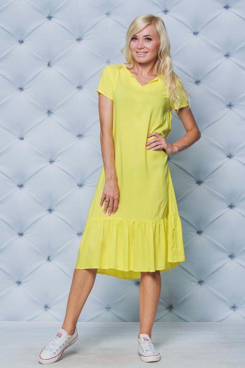 Платье женское летнее желтое