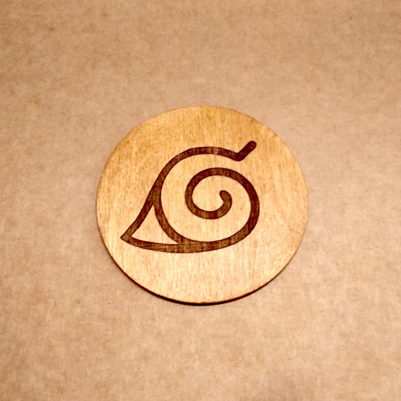 Костер деревянный. Подставка под кружку Наруто.