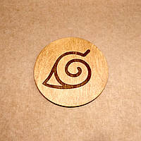 Костер деревянный. Подставка под кружку Наруто., фото 1