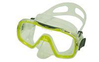 Маска для плавания ZEL ZP-287TPP (термостекло, PVC, пластик, желтый, черный, синий, красный)