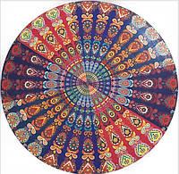 Парео круглое пляжный коврик яркие цвета