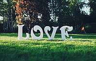 Буквы LOVE насвадьбу из пенопласта/полистирола для фото сессии
