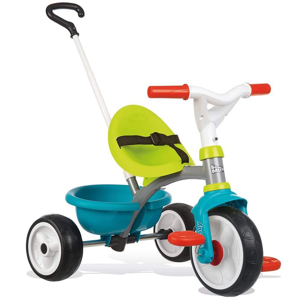 Детский металлический велосипед Би Муви с багажником, голубо-зеленый  Smoby 740326