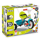 Детский металлический велосипед Би Муви с багажником, голубо-зеленый  Smoby 740326, фото 5