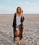 Солнцезащитная одежда длинный кружевной кардиган пляжная мода , фото 3