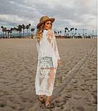 Солнцезащитная одежда длинный кружевной кардиган пляжная мода , фото 4
