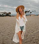 Солнцезащитная одежда длинный кружевной кардиган пляжная мода , фото 5