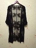 Солнцезащитная одежда длинный кружевной кардиган пляжная мода , фото 6