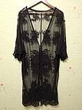 Солнцезащитная одежда длинный кружевной кардиган пляжная мода , фото 8