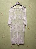 Солнцезащитная одежда длинный кружевной кардиган пляжная мода , фото 10